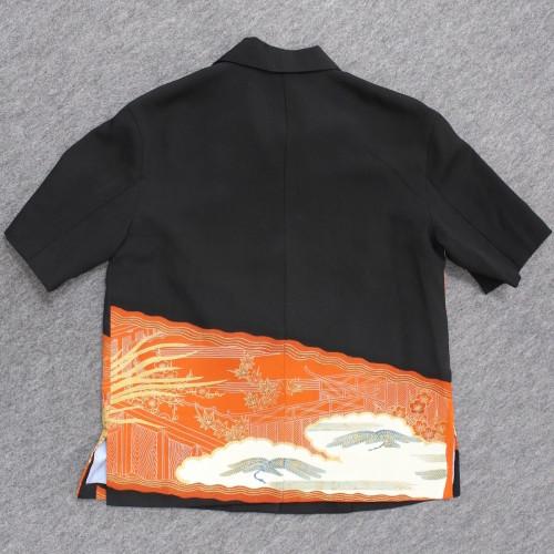着物からアロハシャツへのリメイク仕上がり(後ろ)