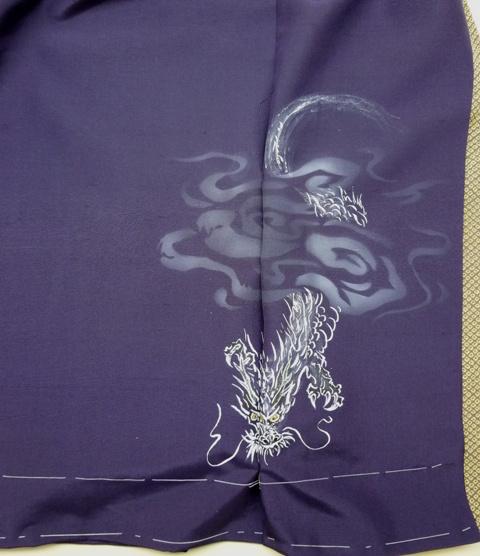 龍デザインのオリジナル着物