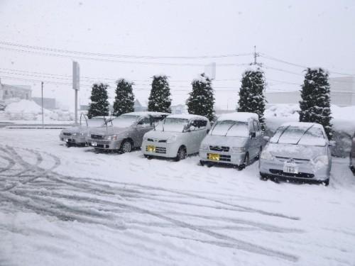平成24年4月7日の雪景色