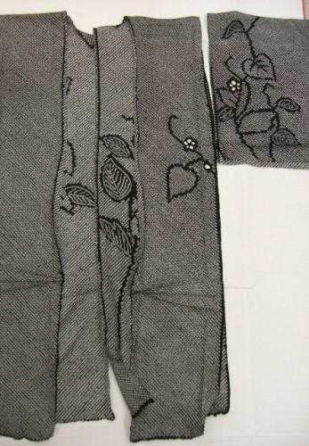 リメイクの素材:総絞りの着物
