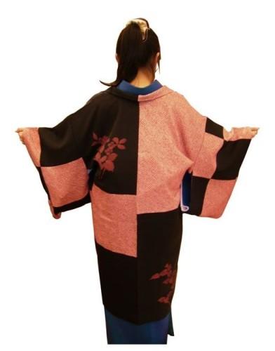 2枚の着物からリメイクで羽織