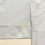 白大島紬の黄変をしみ抜きしました