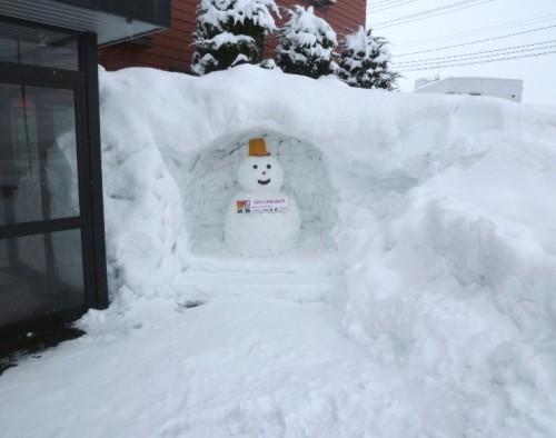 平成24年冬の雪だるま